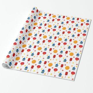 Papel de embalaje colorido de las linternas de papel de regalo