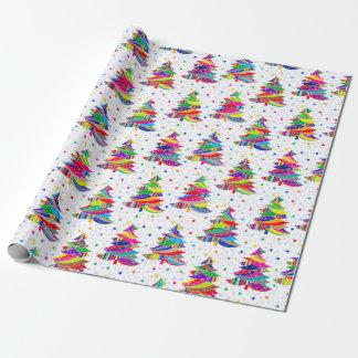 Papel de embalaje colorido de los copos de nieve papel de regalo