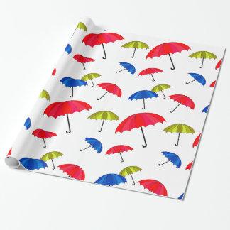 Papel de embalaje colorido del paraguas papel de regalo