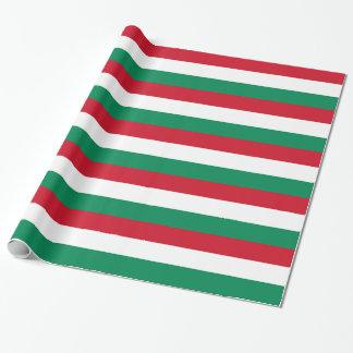 Papel de embalaje con la bandera de Hungría
