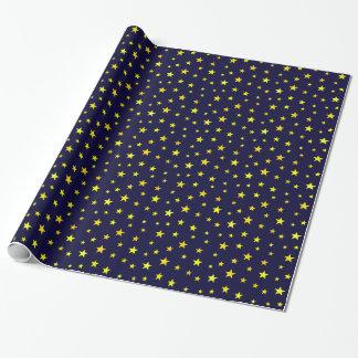 Papel de embalaje con las estrellas en azules papel de regalo