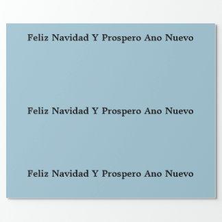 """Papel de embalaje con """"Prospero Ano de Feliz Papel De Regalo"""