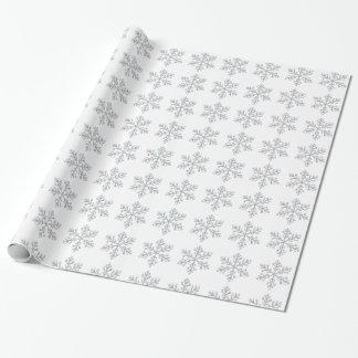 Papel de embalaje cristalino del copo de nieve - b