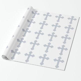 Papel de embalaje cruzado cristiano papel de regalo