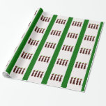 Papel de embalaje de cuatro pequeño navidad de los