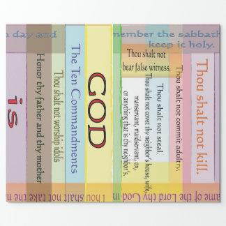 Papel de embalaje de diez mandamientos papel de regalo