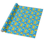 Papel de embalaje de goma amarillo de los patos