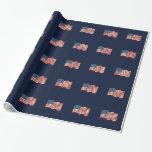 Papel de embalaje de la bandera americana