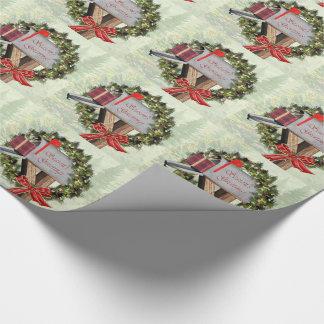 Papel de embalaje de la guirnalda del buzón de los papel de regalo