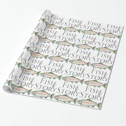 Papel de embalaje de la historia de los pescados -