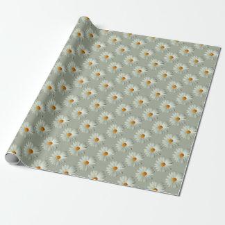 Papel de embalaje de la margarita blanca papel de regalo