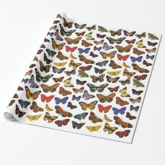 Papel de embalaje de la mariposa papel de regalo