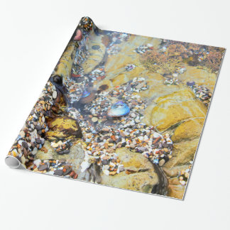 Papel de embalaje de la piscina de la marea papel de regalo