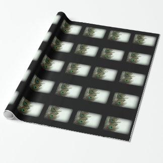 Papel de embalaje de la pluma del pavo real del papel de regalo