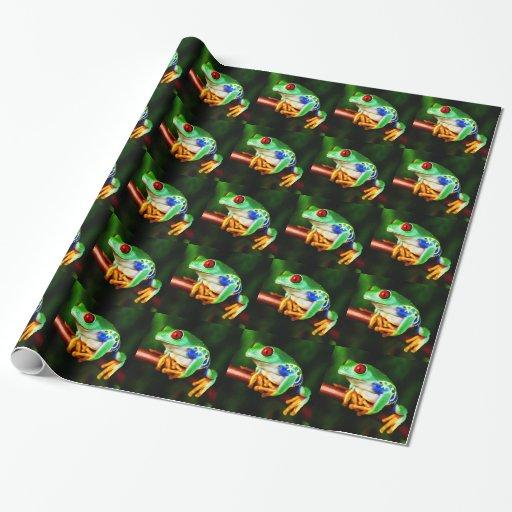 Papel de embalaje de la rana 1 papel de regalo
