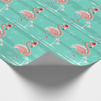 Papel de embalaje de la raya del flamenco del papel de regalo