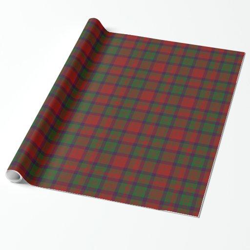 Papel de embalaje de la tela escocesa de