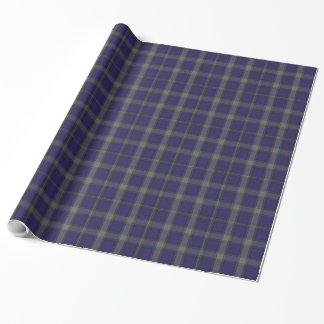 Papel de embalaje de la tela escocesa de tartán de