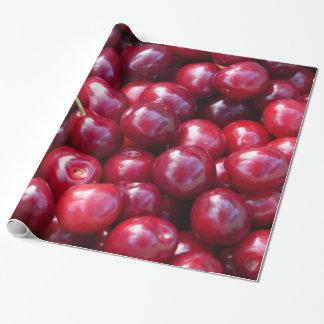 Papel de embalaje de las cerezas papel de regalo