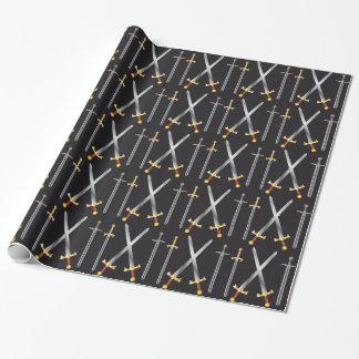 papel de embalaje de las espadas papel de regalo