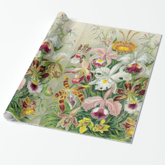 Papel de embalaje de las flores de Orchidae Papel De Regalo