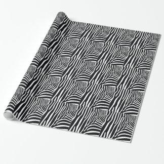 Papel de embalaje de las rayas de la cebra papel de regalo