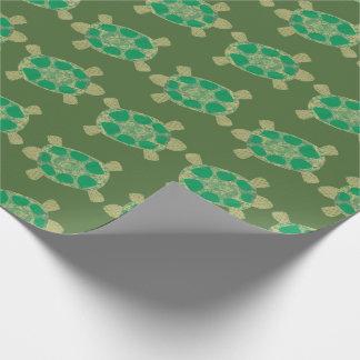 Papel de embalaje de las tortugas verdes papel de regalo