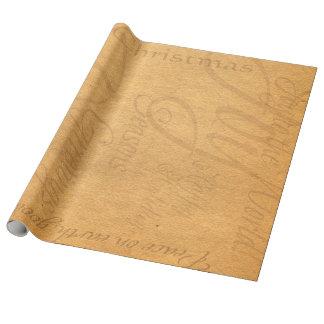 Papel de embalaje de lino del estilo del pergamino papel de regalo