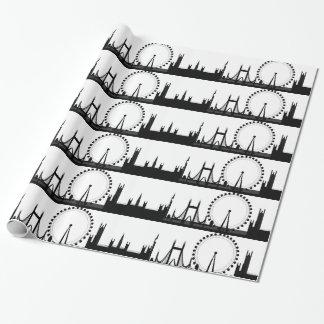 Papel de embalaje de Londres del papel de regalo