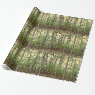 Papel de embalaje de los árboles forestales papel de regalo