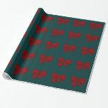 Papel de embalaje de los arcos del rojo papel de regalo