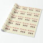 Papel de embalaje de los búhos del navidad