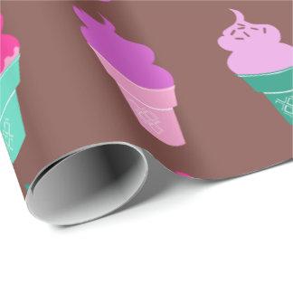 Papel de embalaje de los conos de helado papel de regalo