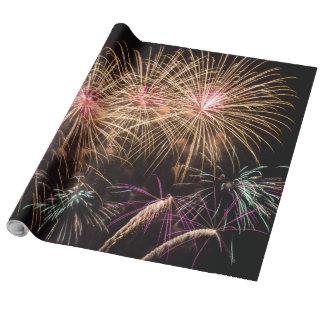 Papel de embalaje de los fuegos artificiales papel de regalo