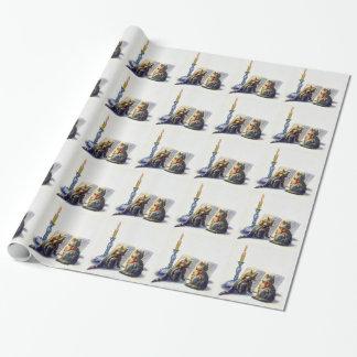 Papel de embalaje de los gatos del vintage papel de regalo