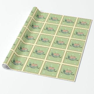 papel de embalaje de los gemelos de la fiesta de papel de regalo