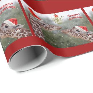 Papel de embalaje de los momentos del muérdago papel de regalo