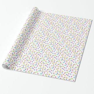 Papel de embalaje de los pedazos del rompecabezas papel de regalo