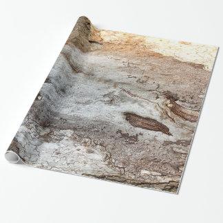 Papel de embalaje de madera de la corteza del papel de regalo