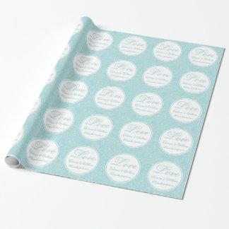 Papel de embalaje de mármol personalizado del boda papel de regalo