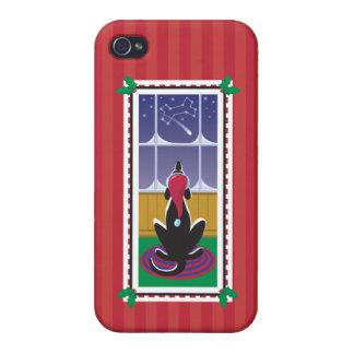 Papel de embalaje de Stars_red del hueso de WagsTo iPhone 4 Fundas
