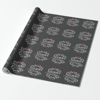 Papel de embalaje del acebo del vintage del papel de regalo