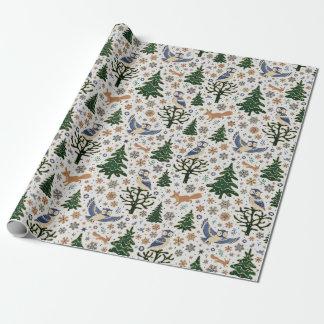 Papel de embalaje del búho de los animales del papel de regalo