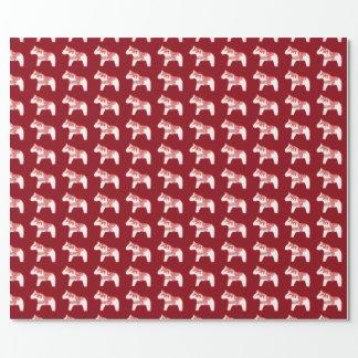 Papel de embalaje del caballo del sauce rojo y papel de regalo