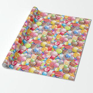 Papel de embalaje del caramelo del cumpleaños o papel de regalo