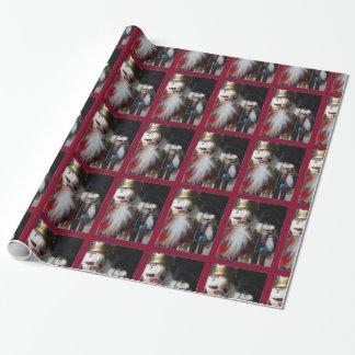 Papel de embalaje del cascanueces del navidad