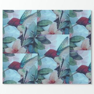 Papel de embalaje del colibrí papel de regalo