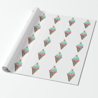 Papel de embalaje del cono de helado papel de regalo