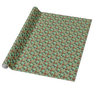 Papel de embalaje del cono del pino ponderosa 2 papel de regalo