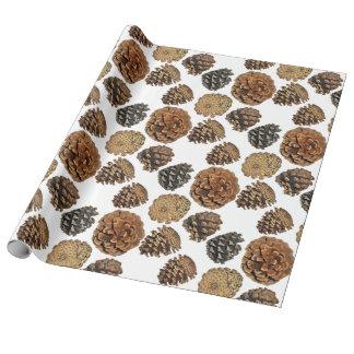 Papel de embalaje del cono del pino ponderosa papel de regalo